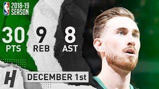 Gordon Hayward Full Highlights Celtics vs Timberwolves 2018.12.01 - 30 Pts, 8 Ast, 9 Rebounds!!!
