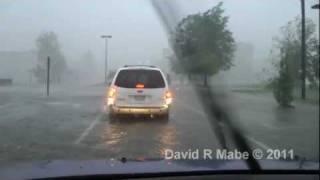 Hurricane Irene Chase - New Bern NC, 8/27/11 PART 1