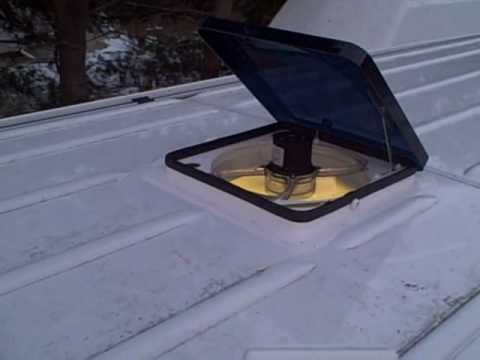 The Fan Tastic Roof Vent Installed In A Sprinter By