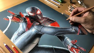 Drawing Spider-Man: Miles Morales - Time-Lapse + Real-Time | ARTOLOGY