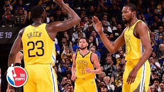 Kevin Durant, Draymond Green come up huge in Warriors' win vs. Pistons | NBA Highlights