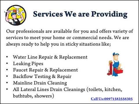Plumbing Services Company in Dubai - Handyman Service UAE