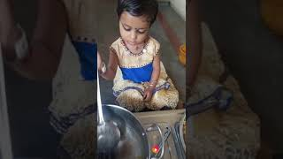 Cute little baby making chaumeen.