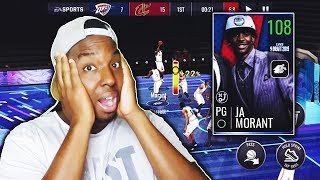 THIS CARD IS ABSOLUTELY INSANE!!! PLAYING WITH JA MORANT IN NBA LIVE MOBILE!!!