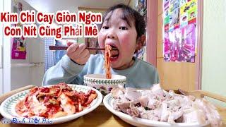 🇰🇷Vlog 234 || Thịt Luộc Cuộn Kim Chi Giòn Cay || Gia Đình Việt Hàn ||Yun Hye Bin