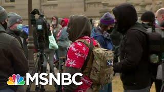 Armed Protesters Arrive At Michigan Capitol | MSNBC