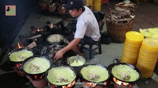 Vietnamese Food [ Banh Xeo Chua ] in Mekong Delta