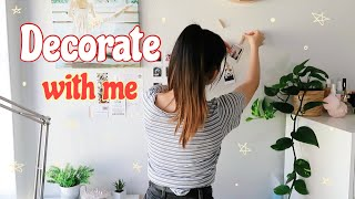 DECORATE WITH  ME + Q&A 🌹 (part 3 room makeover)