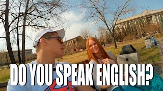 DO RUSSIANS SPEAK ENGLISH?(Social Experiment)