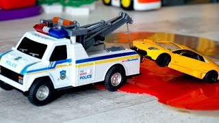 Polic Tow Truck and Police Car   Trucks for kids   Toys for kids Tow Truck   vehicles