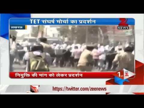लखनऊ में पुलिस ने छात्रों पर बरसाई लाठी