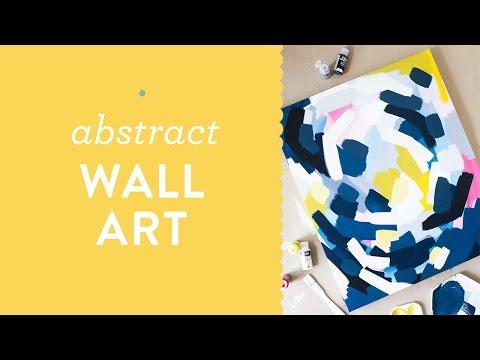 DIY Layred Abstract Wall Art Painting