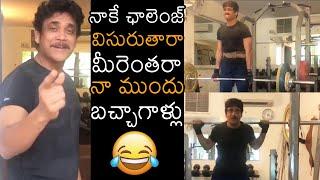 Nagarjuna accepts Akkineni Akhil's fitness challenge, hits..
