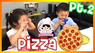 KIDS SIZE COOKING - PEPPERONI PIZZA - LEARNING AND PLAYING Part 2 🎈 COOK WITH CLAIRE