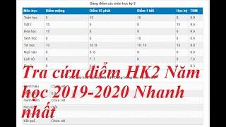 vnEdu - 3 CÁCH TRA CỨU ĐIỂM HK2 - NĂM HỌC 2019-2020 NHANH NHẤT