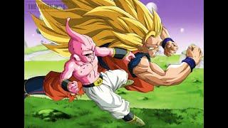 Goku Super Saiyan 3 VS kid Buu  Spirit Bomb