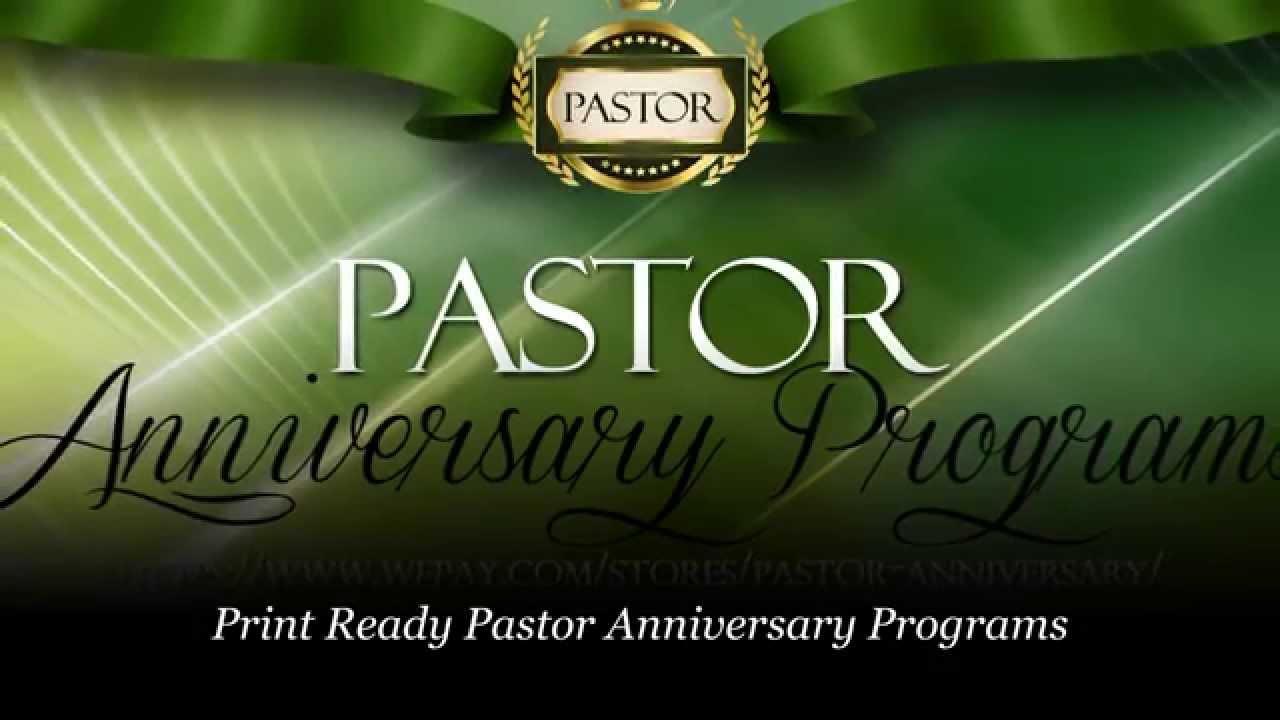 pastor anniversary pastor appreciation programs youtube