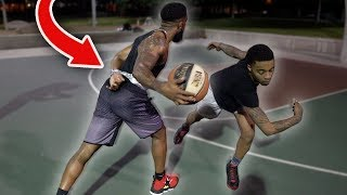 1vs1 Basketball Against FlightReacts with One Hand Tied Behind My Back!