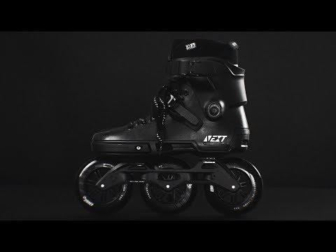 Video POWERSLIDE Roller freeskate NEXT MEGACRUISER 125 TRINITY Blanc