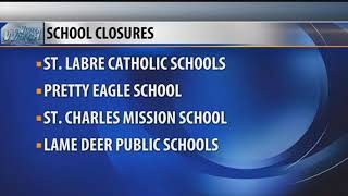 School Closures and Delays for Friday