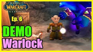 A bald Gnome Warlock is born! Demo Ep #6 [World of Warcraft Classic Demo Let's Play]