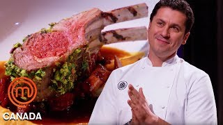 Claudio Aprile Cooks A Lamb Dish Alongside The Chefs | MasterChef Canada | MasterChef World