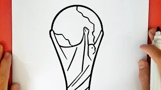 HOW TO DRAW THE WORLD CUP TROPHY