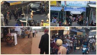 Dân đặt quan tài phản đối dỡ chợ ở Kiên Giang