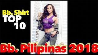 Binibining Pilipinas 2018 Official T-shirt   My Top 10 Bb. Pilipinas Candidate   Pinoy Vlog