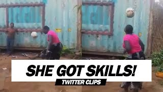 African Woman's Crazy Football Skills   Viral on Twitter!