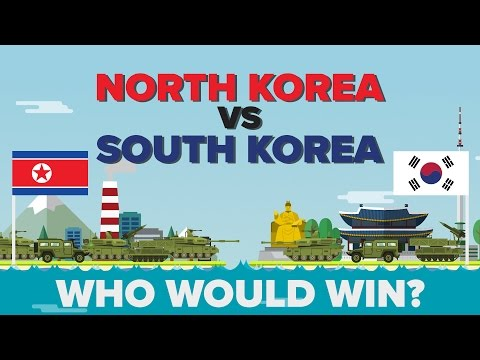 North Korea vs South Korea 2017 - Who Would Win - Army / Military Comparison