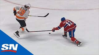 Flyers' Nolan Patrick Goes Bar Down Off The Bench Vs. Canadiens
