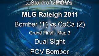 SC2 WoL - MLG Raleigh 2011 - Bomber vs CoCa - Grand Final - Map 3 - Dual Sight - Bomber