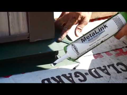Sealing Metal Roof Seams with MetaLink SD