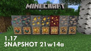 Minecraft 1.17: Snapshot 21w14a! Raw Iron/Gold/Copper, and more!