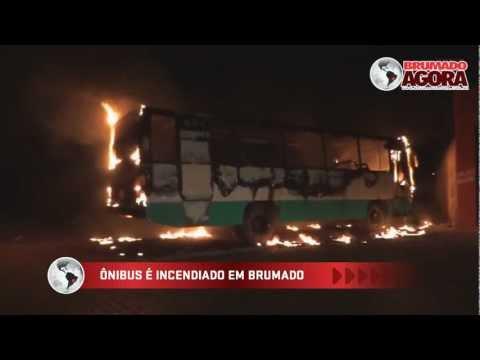 Ônibus é Incendiado em Brumado por bandidos
