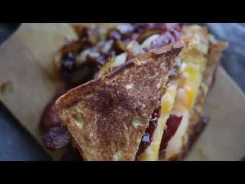 Turkey Bacon Grilled Cheese with Provolone
