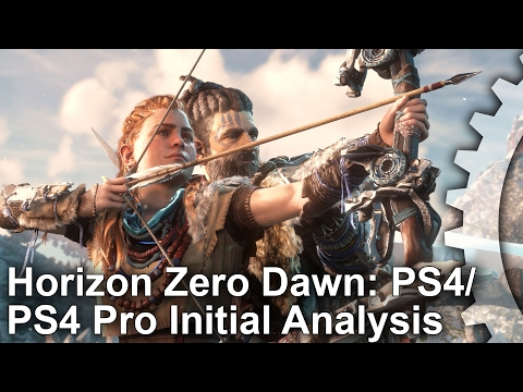 Horizon Zero Dawn: Initial PS4/PS4 Pro Gameplay Frame-Rate Test