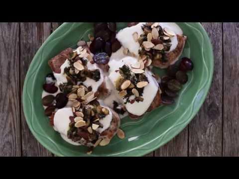 Pork Recipes - How to Make Pork Chops with Grapes and Almonds