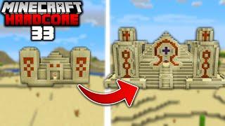 I Built a Giant DESERT PYRAMID in Minecraft Hardcore (#33)