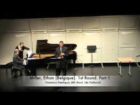 Miller, Ethan (Belgique). 1st Round. Part 1
