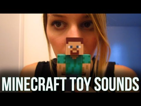 [BINAURAL ASMR] Minecraft Toy Sounds! (tapping, smoothing, scratching)