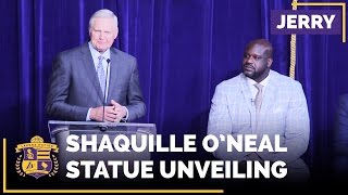 Jerry West Tells Stories At Shaq's Statue Unveiling