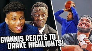 Giannis, Siakam & Other NBA Stars React To DRAKE Highlights!