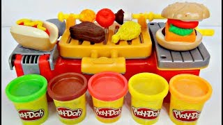 Play-doh Cookout Creation Grill Kitchen! D.I.Y. Kid Craft