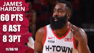 James Harden scores 60 points in 31 minutes for Rockets vs. Hawks | 2019-20 NBA Highlights