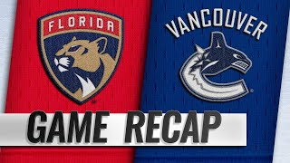 Eriksson, Markstrom lead Canucks past Panthers, 5-1