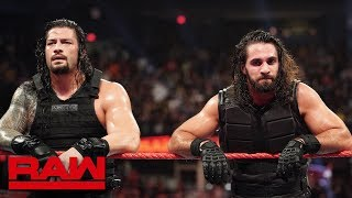 Roman Reigns and Seth Rollins react to Dean Ambrose walking out on them: Raw Exclusive, Oct. 8, 2018
