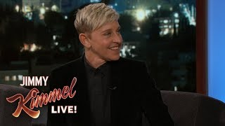 Ellen DeGeneres Makes Fun of Jimmy Kimmel's Phone Case