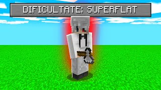 Bat Minecraft Pe O Harta Superflat!